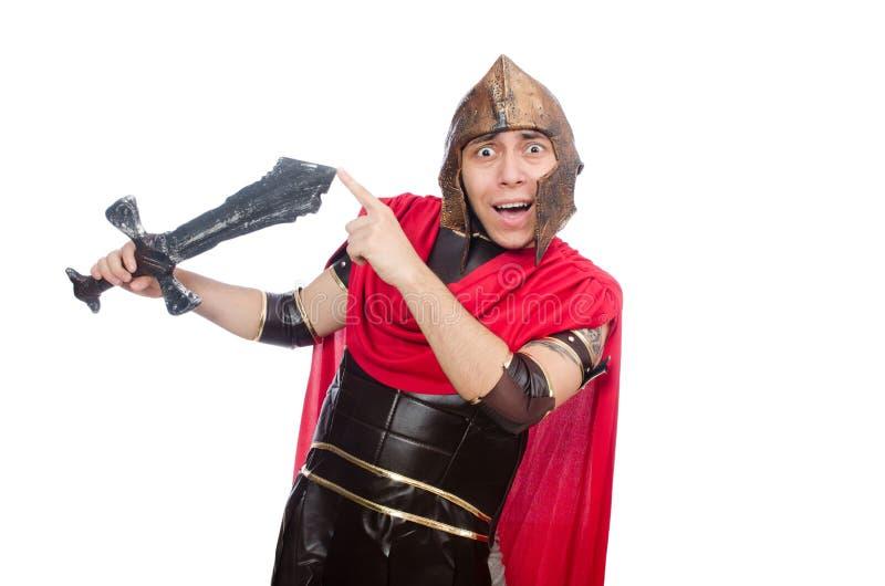 Gladiador que sostiene la espada imagen de archivo