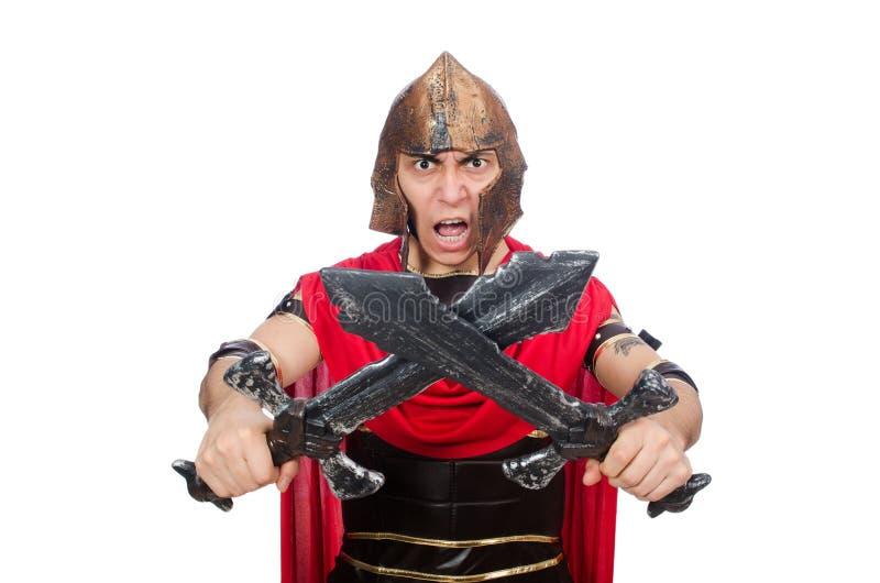 Gladiador que sostiene la espada fotos de archivo