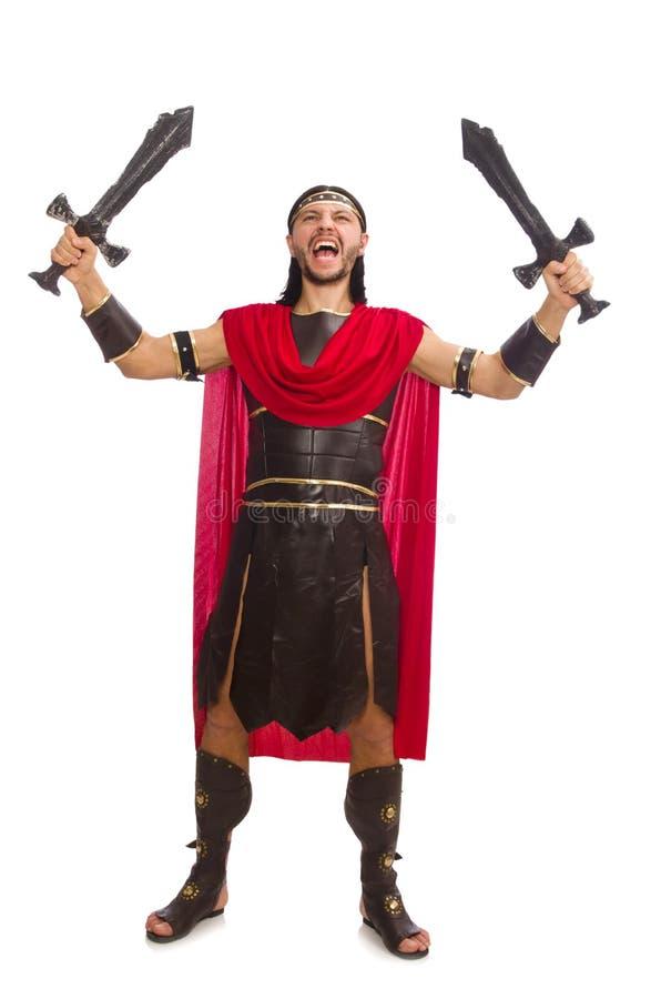 Gladiador que sostiene la espada fotografía de archivo