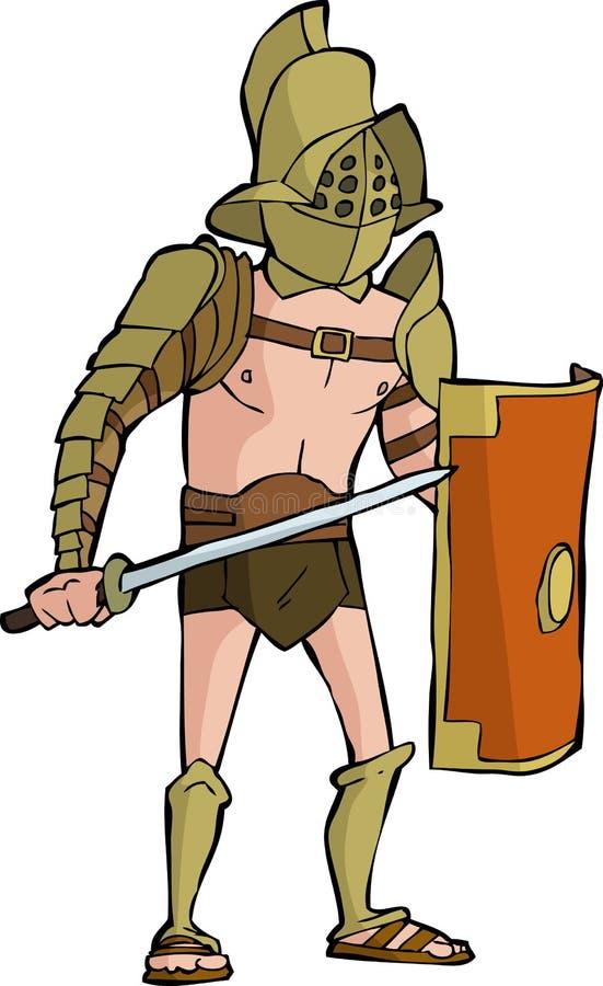 Gladiador romano stock de ilustración