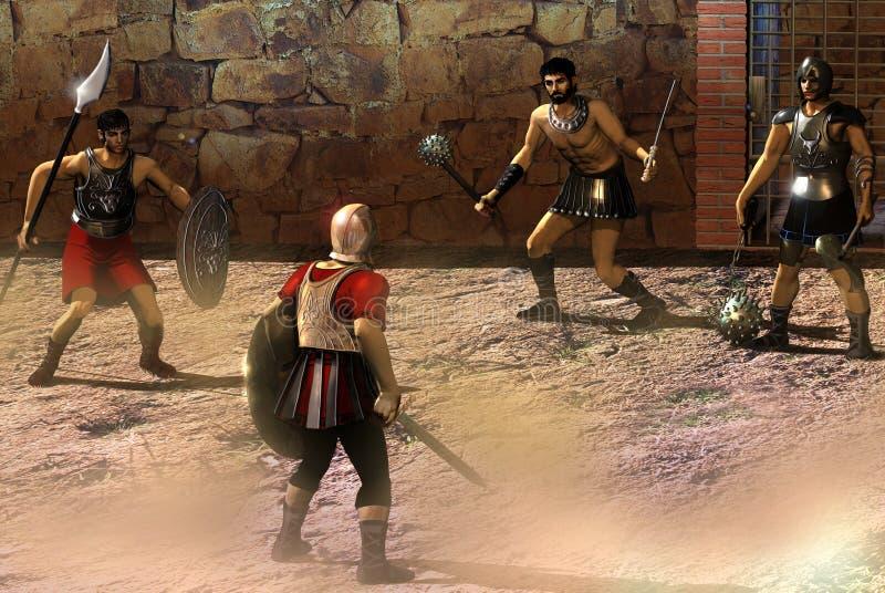 Gladiadores ilustración del vector