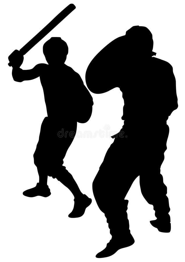 Gladiadores atléticos dois ilustração stock