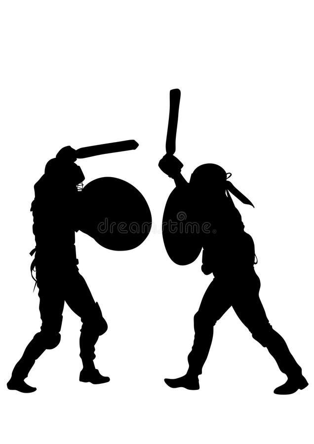 Gladiadores modernos cinco ilustração royalty free