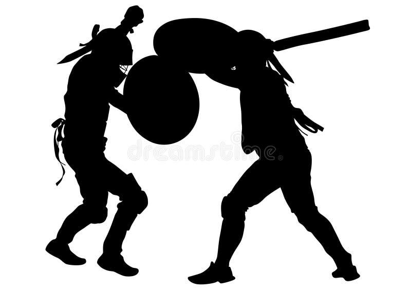 Gladiadores modernos dez ilustração do vetor