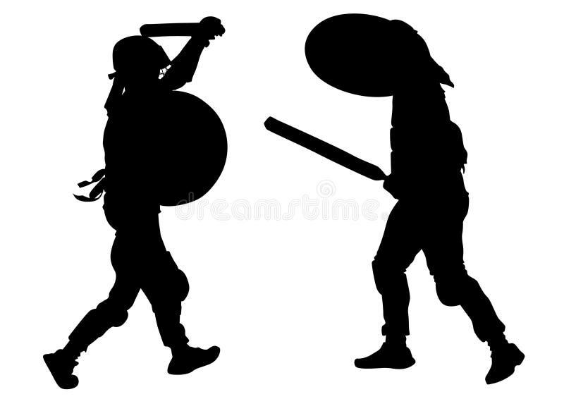 Gladiadores modernos dois ilustração royalty free