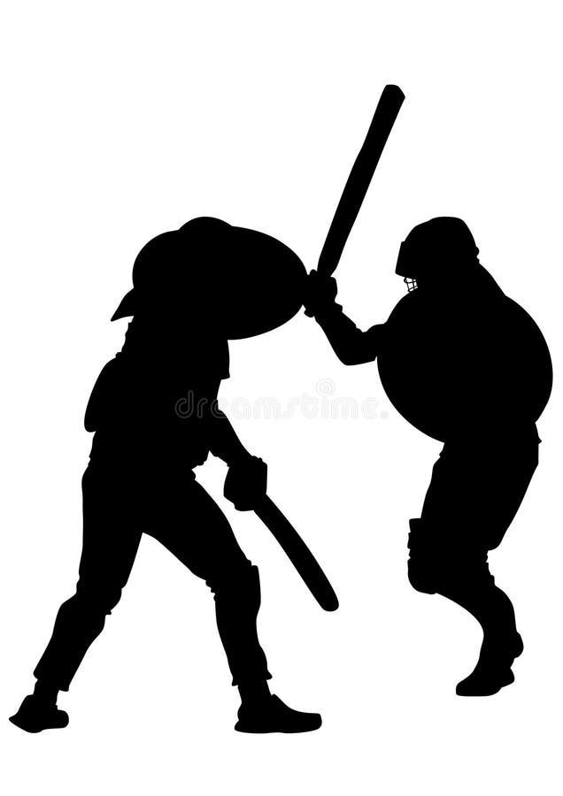 Gladiadores modernos oito ilustração stock