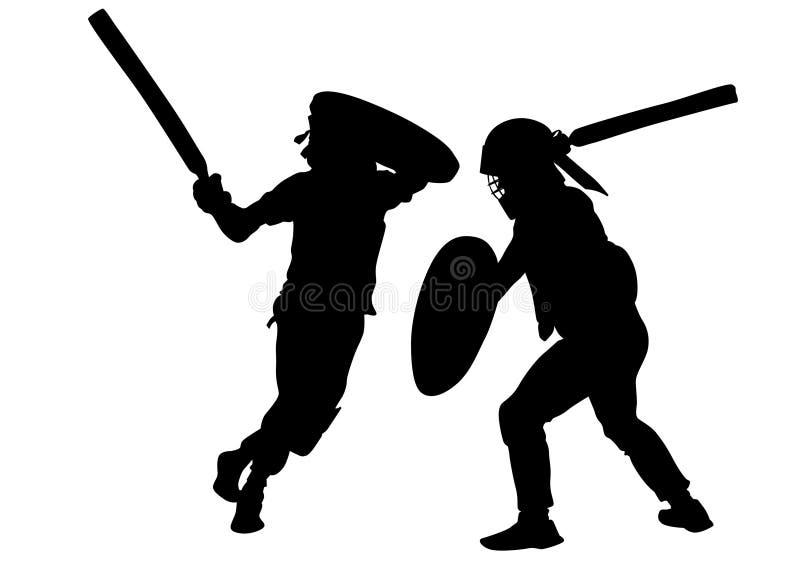 Gladiadores modernos seis ilustração stock