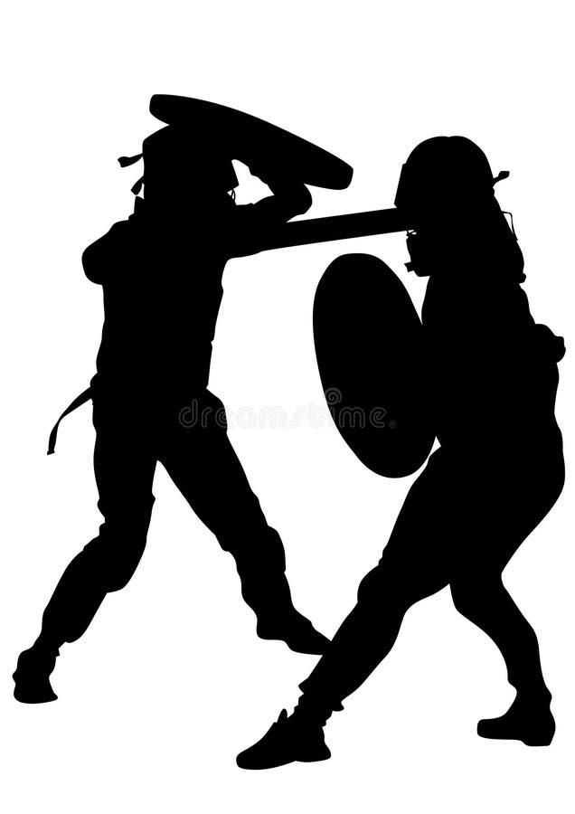Gladiadores modernos sete ilustração do vetor