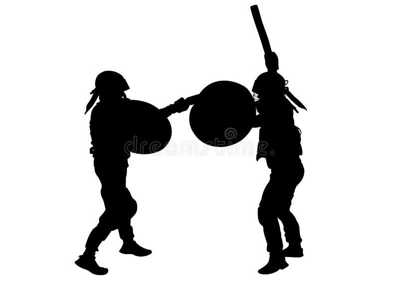 Gladiadores modernos três ilustração royalty free