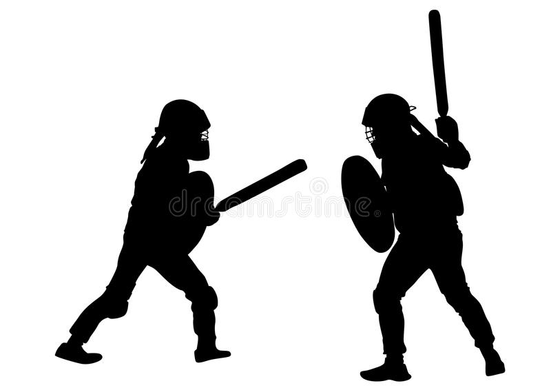 Gladiadores modernos um ilustração stock