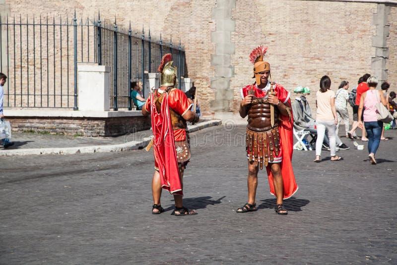 Gladiadores - Roma Castel Sant Angelo imagenes de archivo