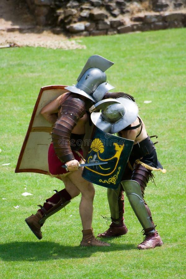 Gladiadores romanos fotos de stock royalty free
