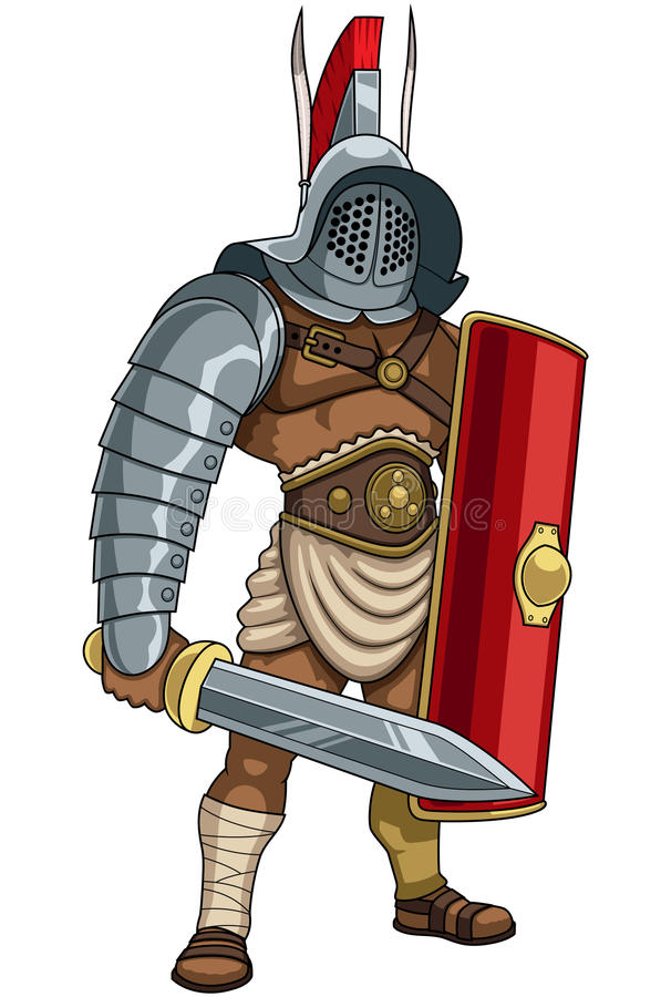 gladiateur illustration stock
