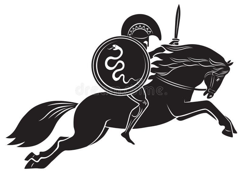 Gladiateur avec une lance illustration libre de droits