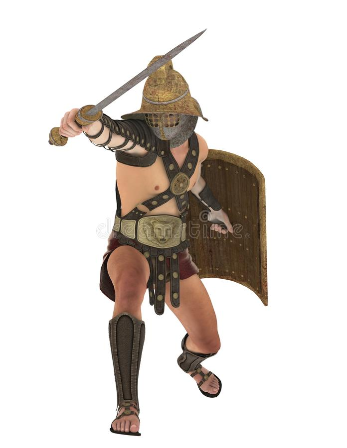 Gladiateur, 3D CG. illustration libre de droits