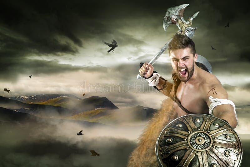 Gladiateur/guerrier images libres de droits