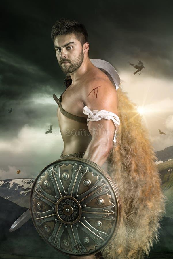 Gladiateur/guerrier image stock