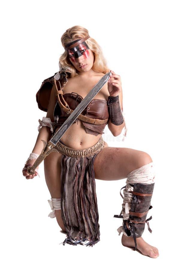 Gladiator γυναικών/αρχαίος πολεμιστής στοκ φωτογραφίες με δικαίωμα ελεύθερης χρήσης