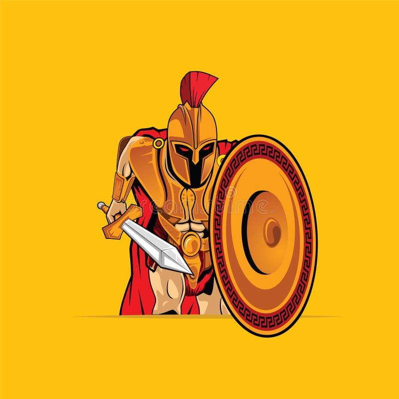 Gladiator κινούμενα σχέδια μασκότ Διανυσματική απεικόνιση EPS 10 διανυσματική απεικόνιση