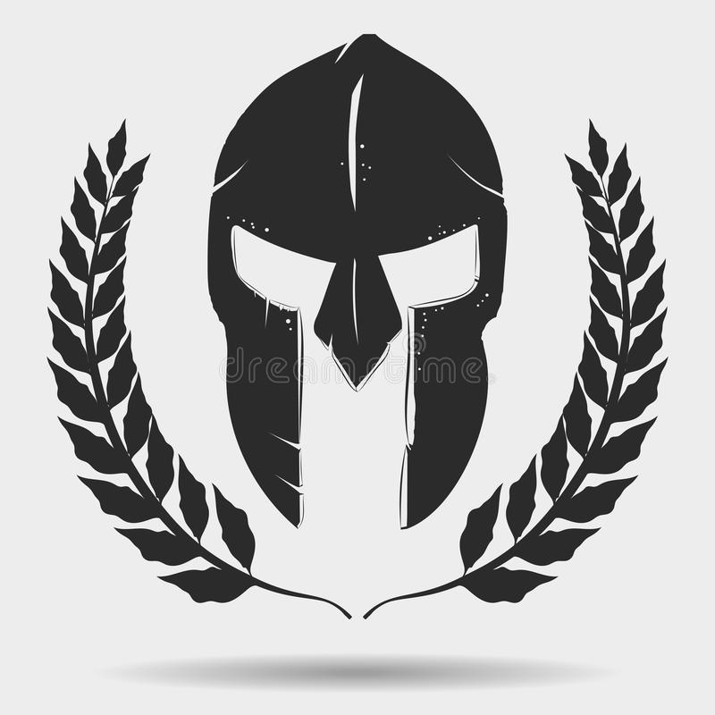 Gladiator κράνος με το στεφάνι δαφνών απεικόνιση αποθεμάτων