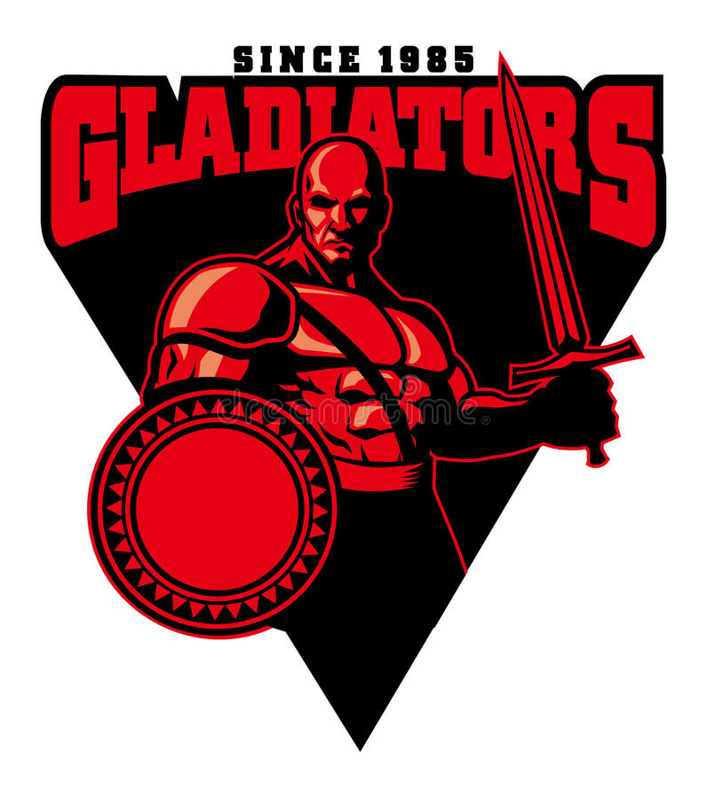 Gladiator μασκότ διανυσματική απεικόνιση