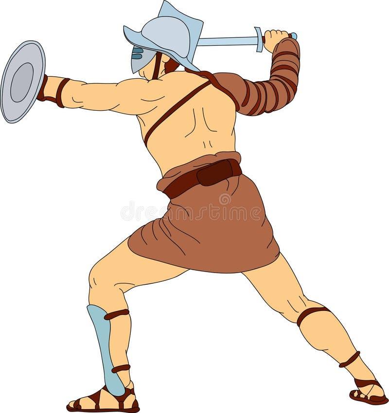 Download Gladiator stock vector. Illustration of emotional, gesture - 12925074