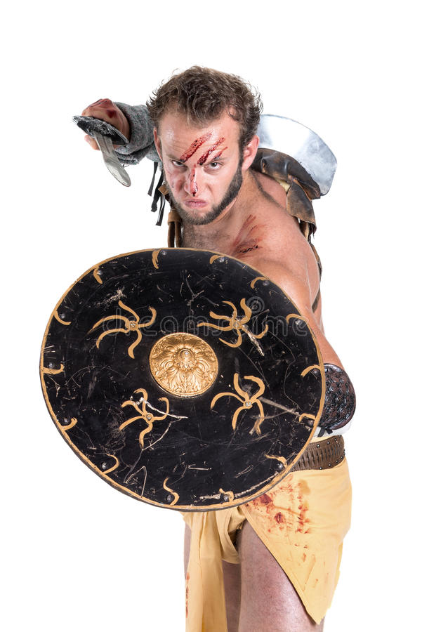 gladiator royaltyfri fotografi