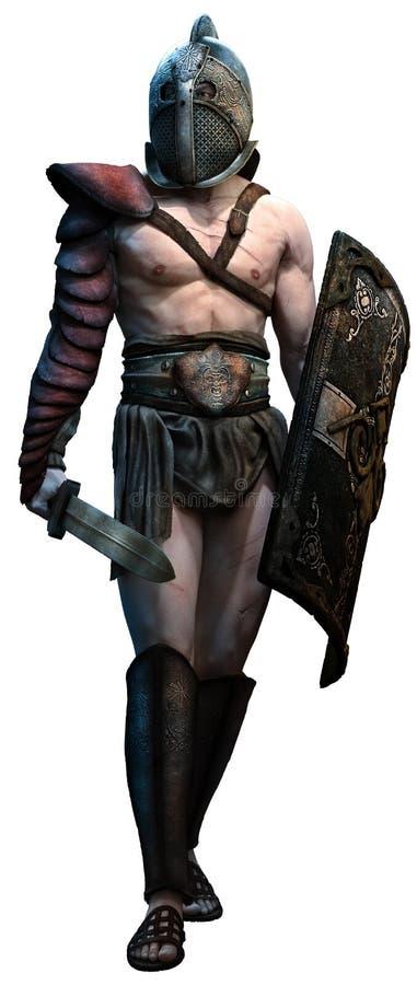gladiator stock de ilustración