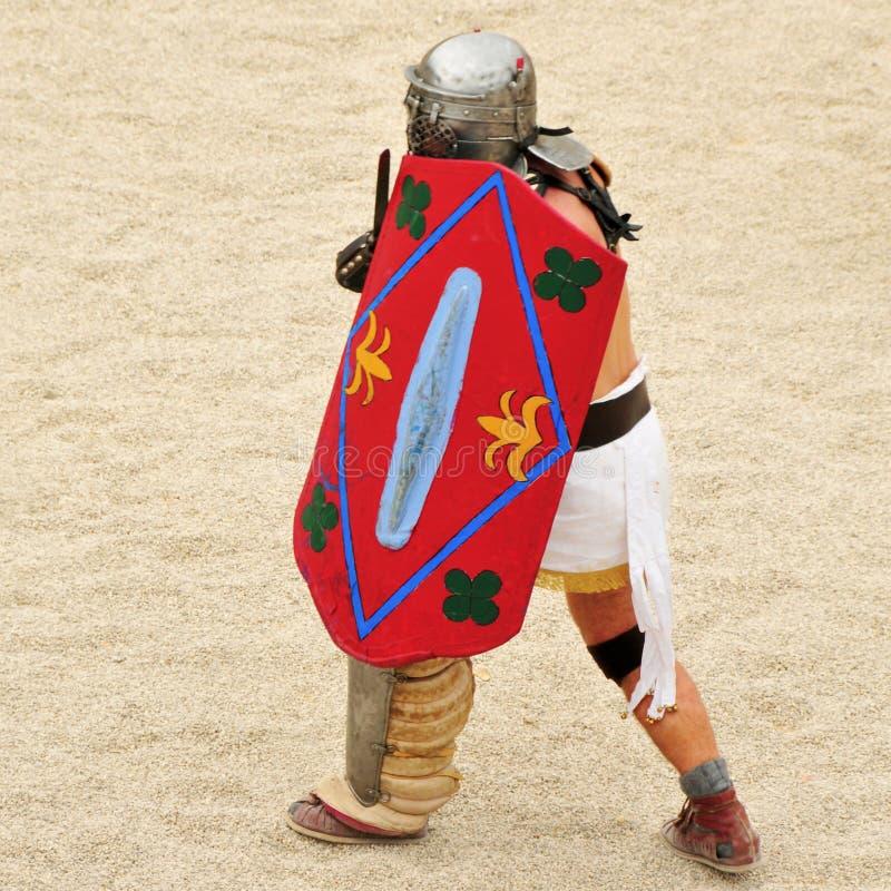 Gladiator av den romerska amphitheateren av Tarragona royaltyfri fotografi
