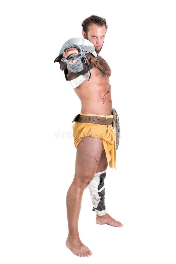 Gladiator/barbar- krigare royaltyfri foto