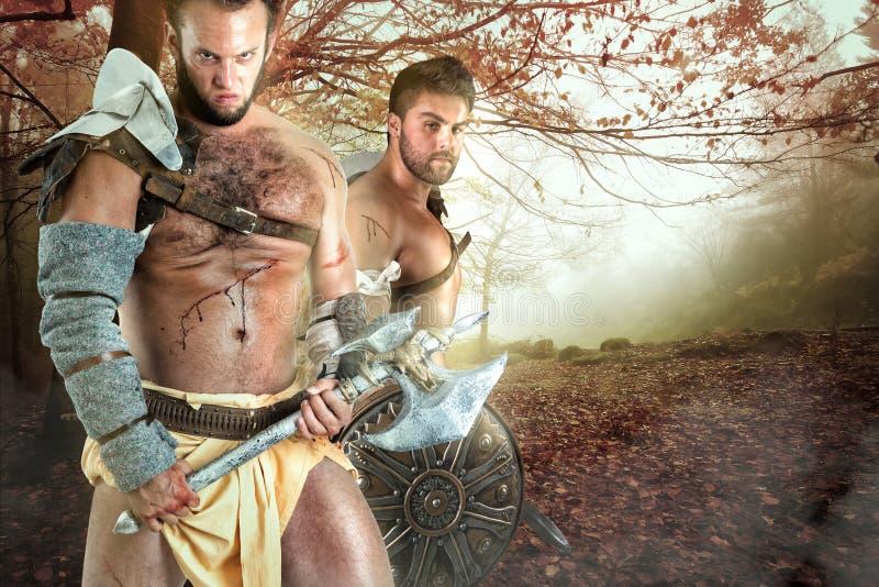 Gladiator/barbar- krigare royaltyfri fotografi