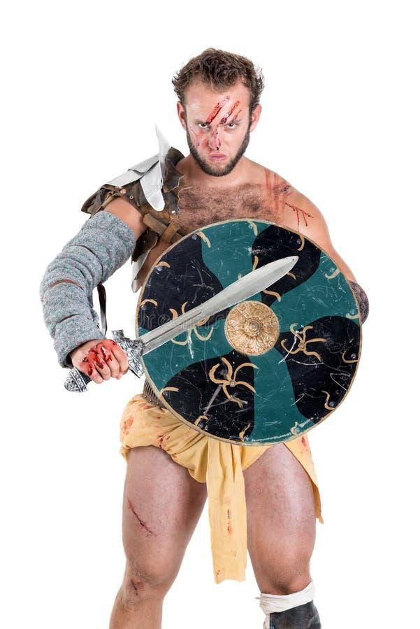 Gladiator/barbar- krigare fotografering för bildbyråer