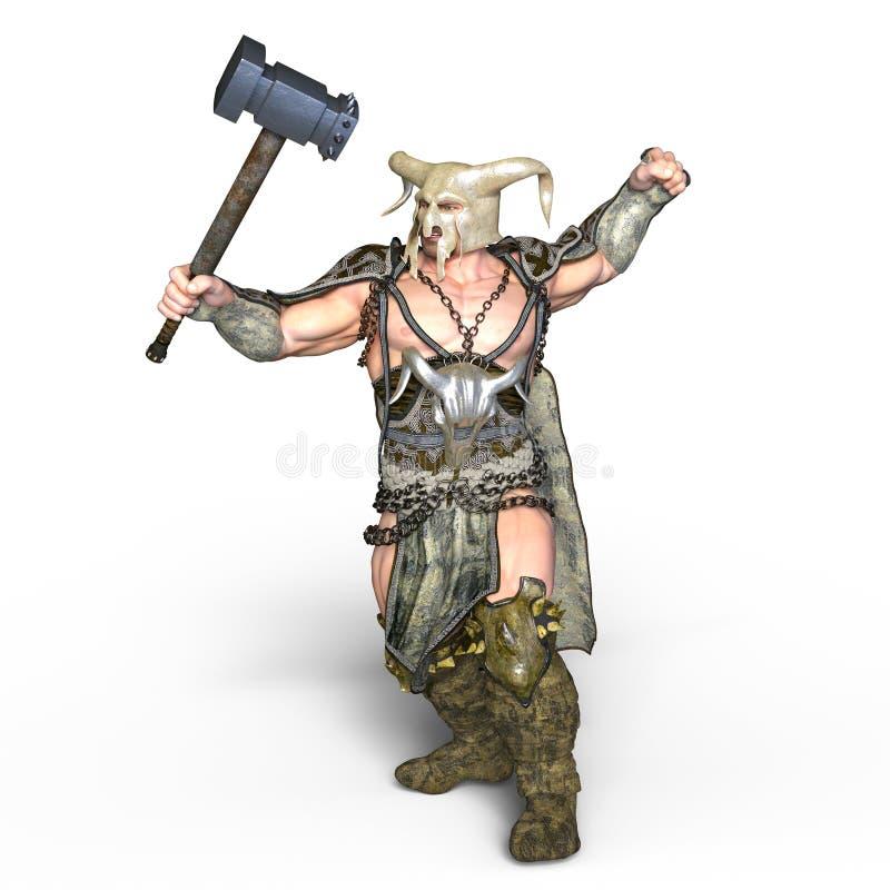 Gladiator. 3D CG rendering of a gladiator royalty free illustration