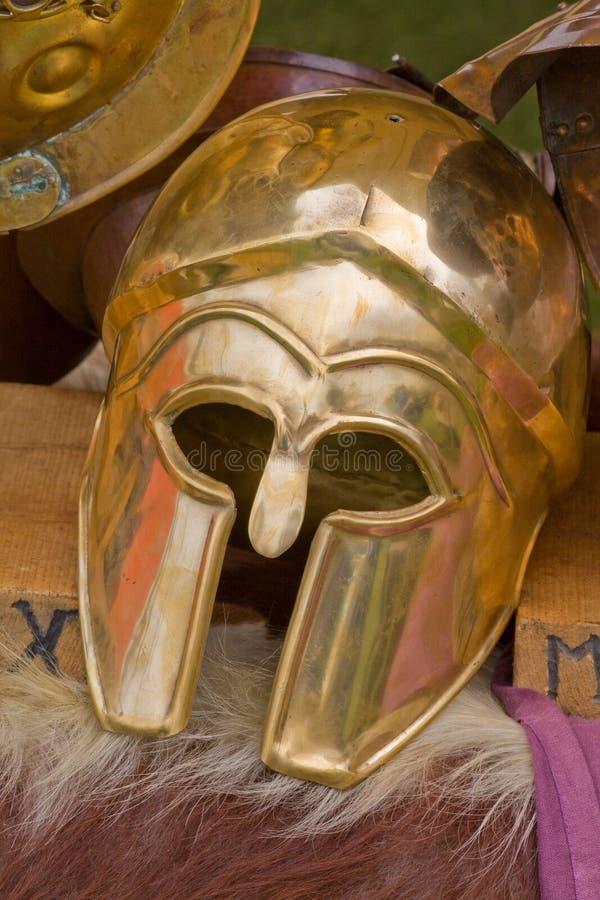 Gladiator helmet stock photos