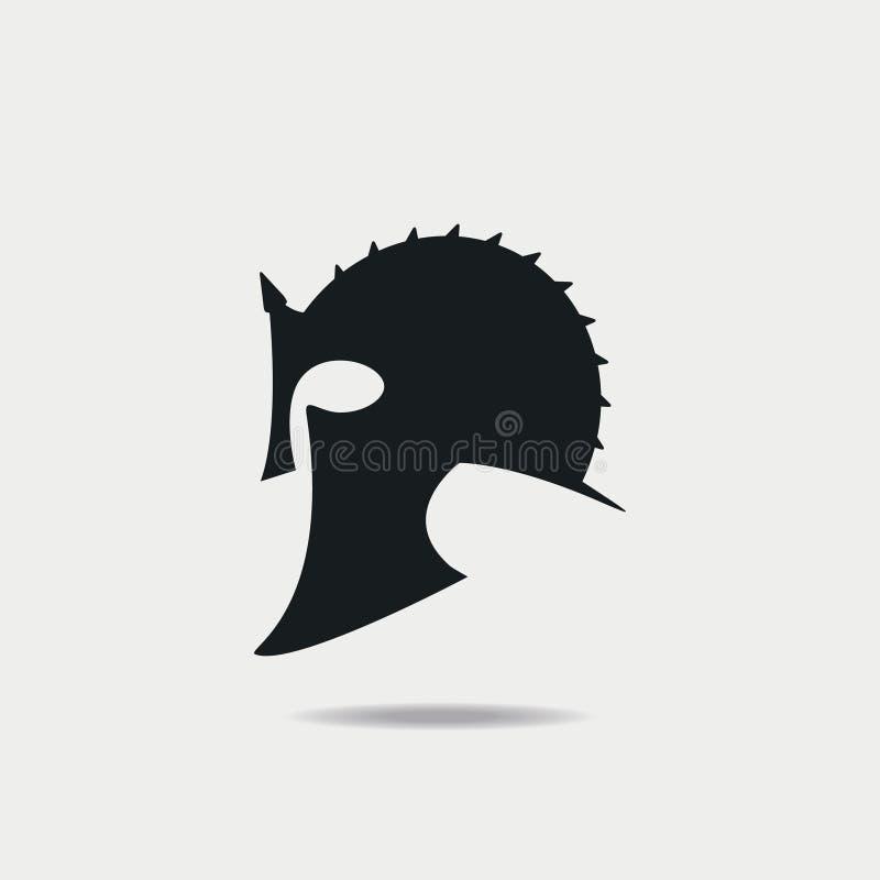 Gladiator Helmet icon. Greek or Roman, spartan armor. Vector. stock illustration