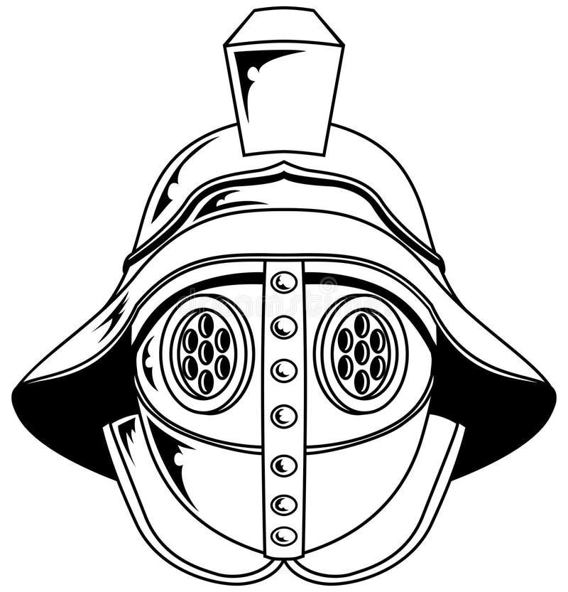 Download Gladiator Helmet Illustration Stock Vector - Image: 15578598