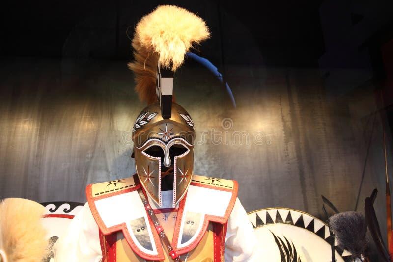 Gladiator, inside w Colosseum, Rzym, Włochy zdjęcie stock