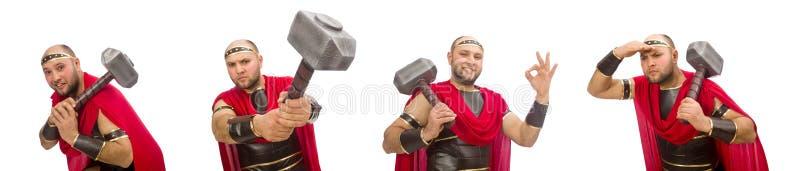 Gladiator isolated on white background. The gladiator isolated on white background royalty free stock photo