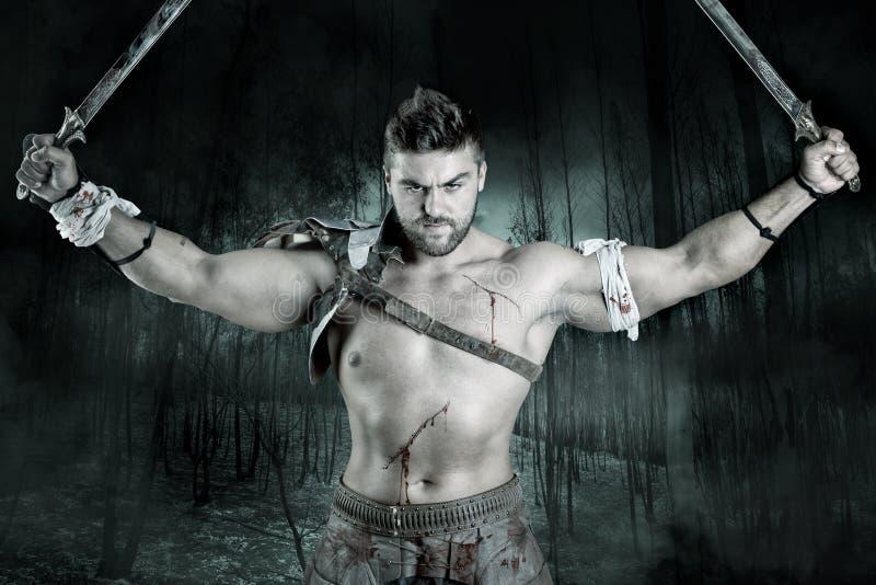 Gladiator/krigare royaltyfri foto