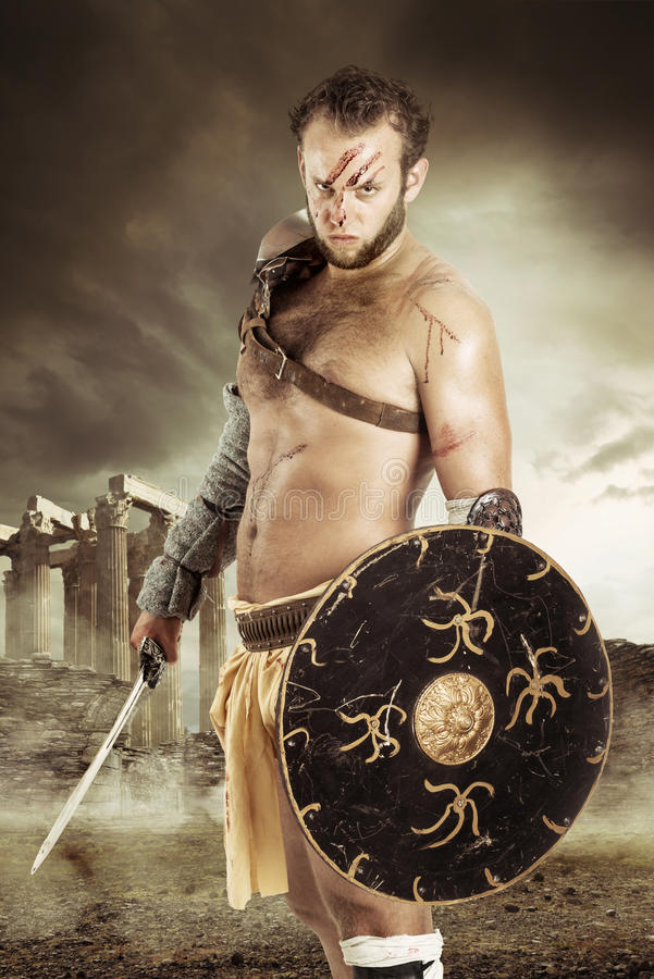 Gladiator/krigare arkivbild