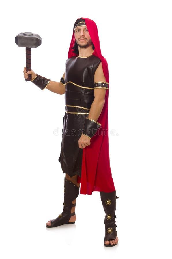 Gladiator met hamer royalty-vrije stock foto's