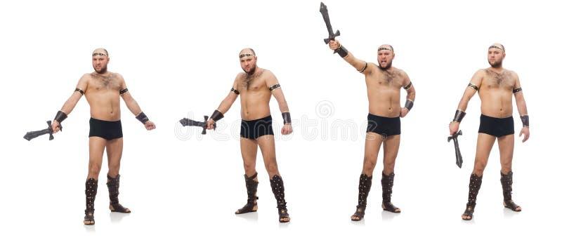 Gladiator odizolowywaj?cy na bia?ym tle obraz royalty free