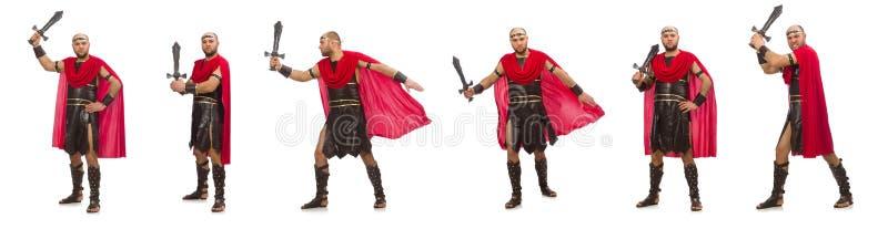 Gladiator odizolowywaj?cy na bia?ym tle obrazy stock