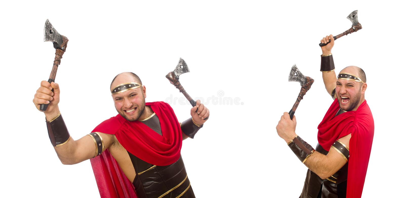 Gladiator odizolowywaj?cy na bia?ym tle zdjęcie royalty free