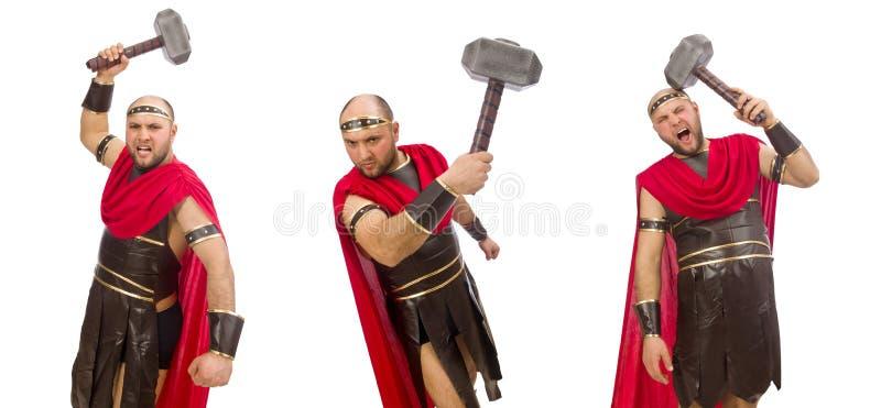 Gladiator odizolowywaj?cy na bia?ym tle zdjęcie stock