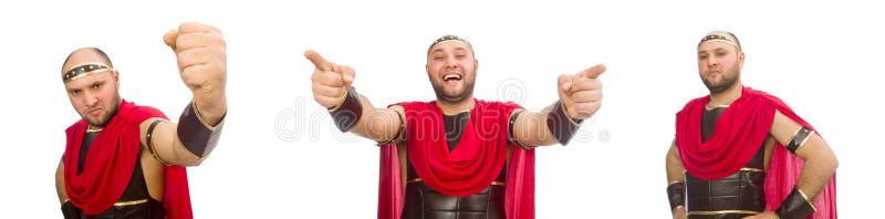 Gladiator wyizolowany na białym tle zdjęcia royalty free