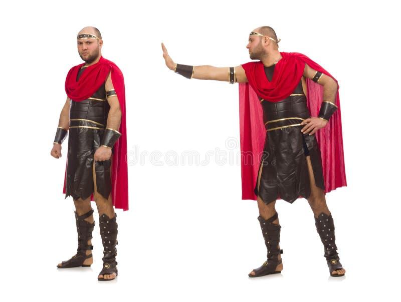 Gladiator wyizolowany na białym tle obraz royalty free