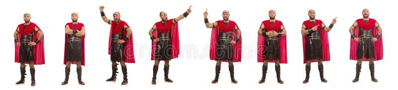 Gladiator wyizolowany na białym tle obrazy royalty free