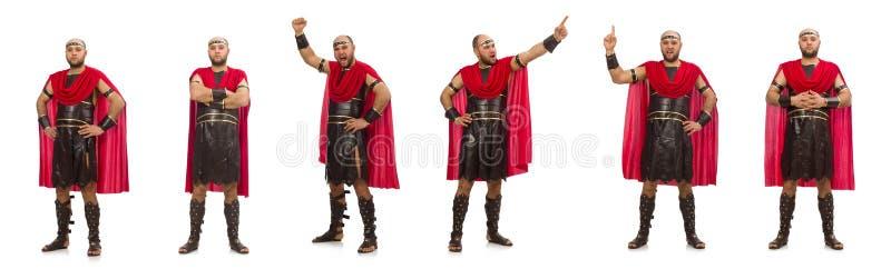 Gladiator wyizolowany na białym tle zdjęcie stock