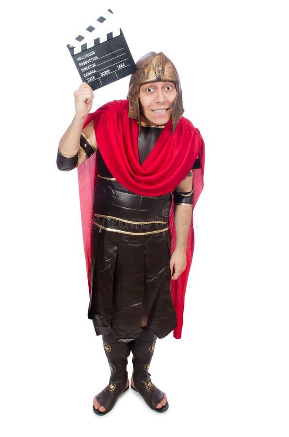 Download Gladiator Z Clapboard Odizolowywającym Na Bielu Obraz Stock - Obraz złożonej z tło, clapboard: 57654043
